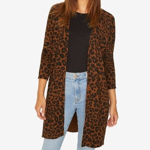 NWT Sanctuary duster cardigan animal print sweater